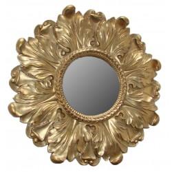 مرآة بإطار لون ذهبي